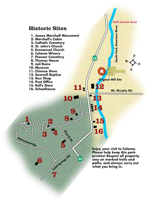 the map of coloma california html