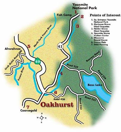 The Map of Oakhurst Californiahtml