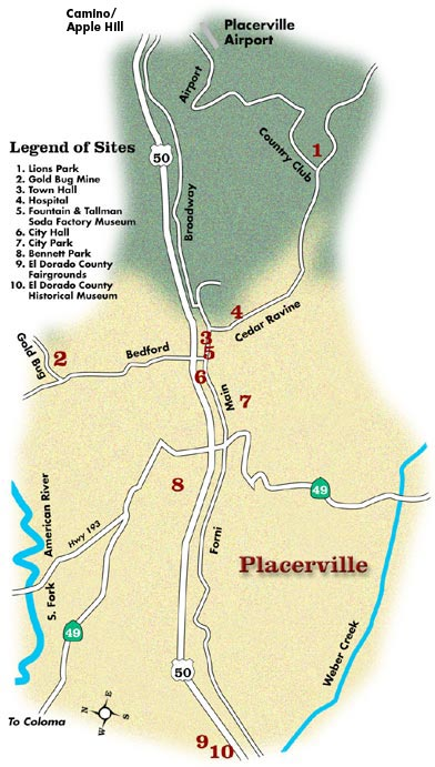 Placerville California Map.The Map Of Placerville California Html