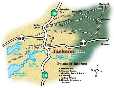 Jackson California Map The Map of Jackson, California